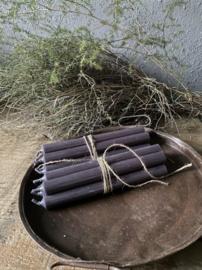 Bundel 5 dinerkaarsen - coal