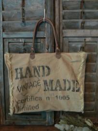"""Grote stoere tas  """"Vintage"""""""