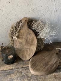 Ovaal houten serveerplankje oud hout