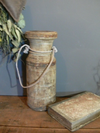 Oude waterkruik kandelaar 30 cm