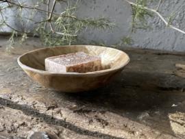 Schelp Capiz voor amberblokje - goud parelmoer