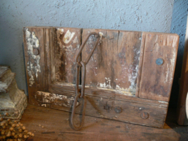 Oud houten wandpaneel