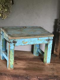 Oud houten schooltafeltje uit India - nr.4