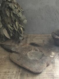 Oude doorleefde rijstschep