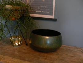 Metalen schaal roestgroen - small