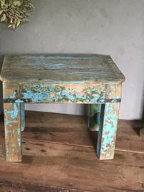 Oud houten schooltafeltje uit India - nr.3