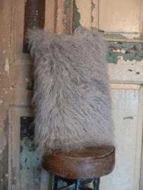 Vachtkussens grijs tibet lam