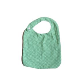 Bavet van recupstof groen retro - Handwerk uit Borgerhout