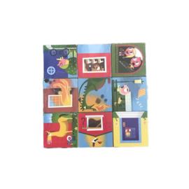 9 kartonnen blokken (winkel)