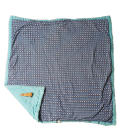 80 x 85 cm - blauw patroon - Petit Pan