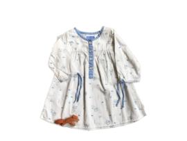 Kleedje wit met vogeltjes - Dpam bebe