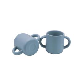 *Siliconen beker poederblauw - Jut & Julie*