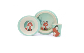 Set bamboeservies - Yuunaa Kids (winkel)
