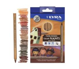 *12  huidskleuren potloden - Lyra*