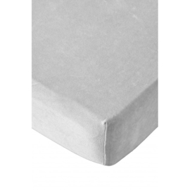 Hoeslaken grijs, wiegformaat Bellodoux