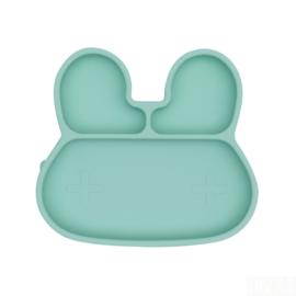 *Stickie plate konijn mint - Wemightbetiny*
