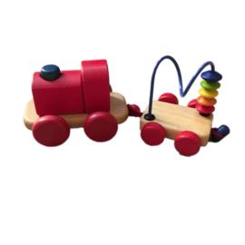 Houten locomotief