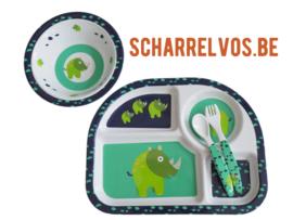 Eetset met neushoorns - Scharrelvos