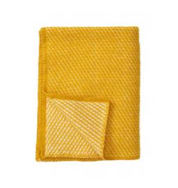 *Ledikantdeken Velvet geel - Klippan*