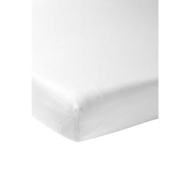Hoeslaken wit 60 x 120 cm