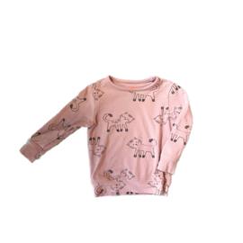 Roze trui met katten - Hema