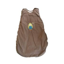 Slaapzak 60 cm bruin met uil