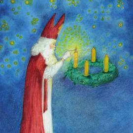 *Sint Nicolaas de lichtbrenger - Eentje van Margo*