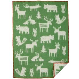 *Wiegdeken wol Forest groen - Klippan*