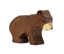 *Bruin beertje zittend - Holztiger*
