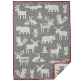 *Wiegdeken wol  Forest grijs - Klippan*