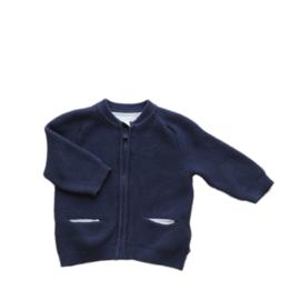 Vestje met rits donkerblauw - Obaibi