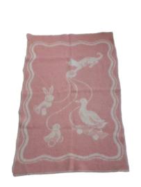 Wollen deken dieren - vintage