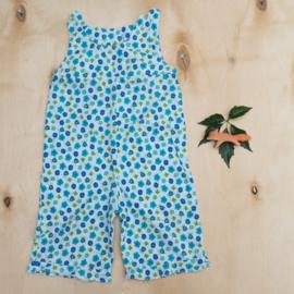 Jumpsuit blauwe bloemen - handgemaakt