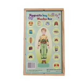 Magnetische aankleedpop jongen