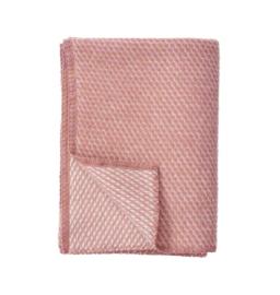 *Ledikantdeken Velvet roze - Klippan*