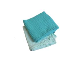 2 tetradoeken mint + aqua - Lassig