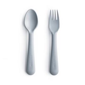 Besteksetje vork en lepel Cloud - Mushie