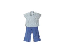 Broek met plooien + hemdje met korte mouwen