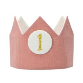 *Verjaardagskroon - roze*