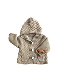 Warm vest met capuchon