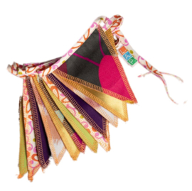 *Vlaggenlijn mini multicolor - 2,5 meter*