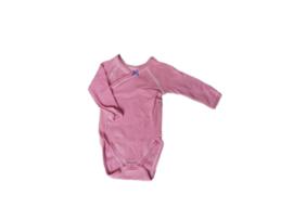 Body met overslag en roze streepjes - Petit Bateau