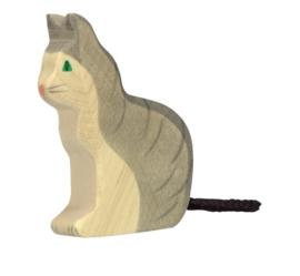 *Kat zittend - Holztiger*