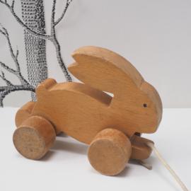 Trekdiertje konijn - Vintage