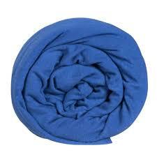60 x 120 cm - hoeslaken blauw - Mythos