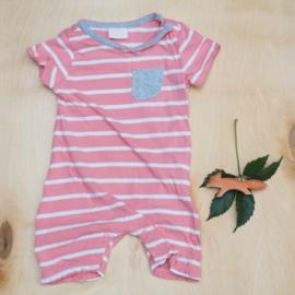 Summersuit roze gestreept - Sweet baby
