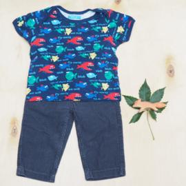 Broek babyrib + t-shirt vissen