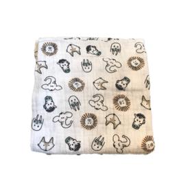 XL-tetradoek - dierenkoppen