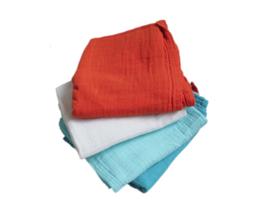 Set van 4 tetradoeken - gekleurd