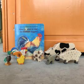 Set houten diertjes/ petits animaux en bois